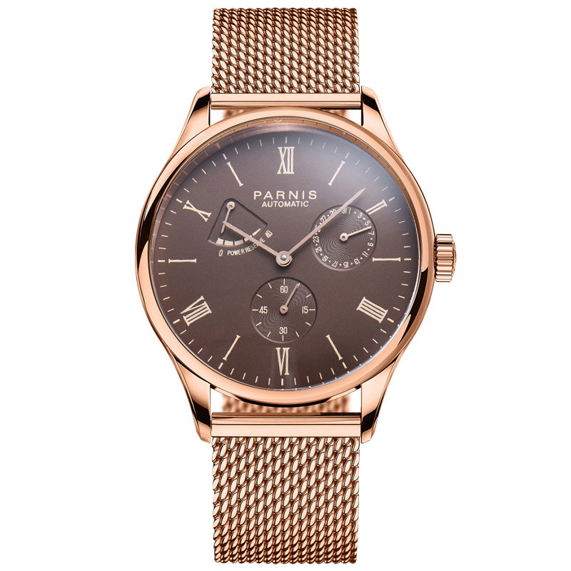 Parnis 2019 Luxury Man Diver Reserve Automatic Watch Mechanical Self Winding Men Watches mekanik kol saati relogio automatico