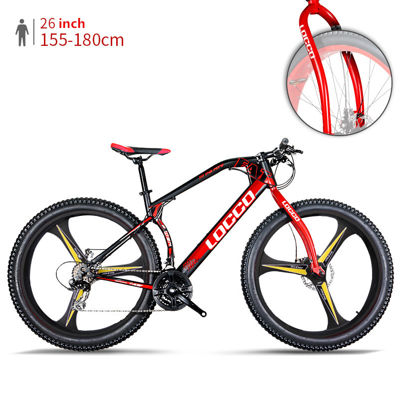 New brand Mountain Bike 3.0 inch Width Tire Steel Frame 26 inch integrally Wheel All terrain off-road Snow Beach Sport Bicycle image