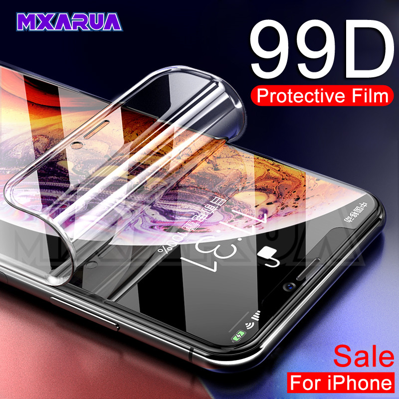 99D Full Protective Soft Hydrogel Film For IPhone X XR XS 11 Pro Max Screen Protector For IPhone 7 8 6 6s Plus X 6 Glass Film
