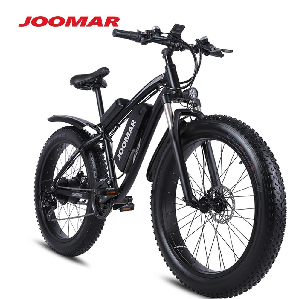 JOOMAR Electric Bike 1000W 48V Motor 4.0 Fat Tire Mountain Bike Beach Snow Bicycle for Men MTB Ebike Kit 17AH Battery JM02S Plus
