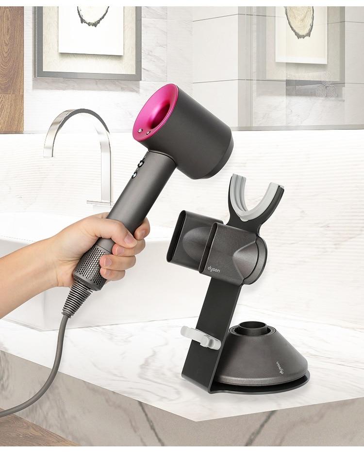 Practical Hair Dryer Brush One Step Hair Dryer Desktop Bracket Anti-Drop Magnetic Holder Stand Bracket Mount For Buy