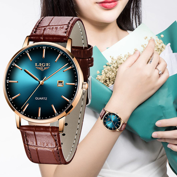 2020 LIGE Luxury Ladies Watch Women Waterproof Rose Gold Steel Strap Women Wristwatch Top Brand Bracelet Clocks Relogio Feminino