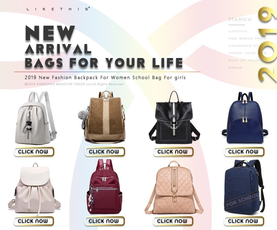 Hddfef562a29e426ba991d4a8ae2fa097r Women Backpack for School Style Leather Bag For College Simple Design Women Casual Daypacks mochila Female Famous Brands168-325
