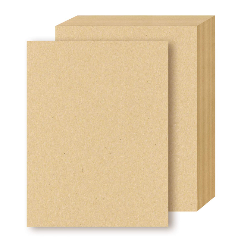 100 sheets Brown Kraft Letter Sized Stationery Paper, 120GSM Kraft Brown Paper Sheets for Arts, Crafts, and Office Use