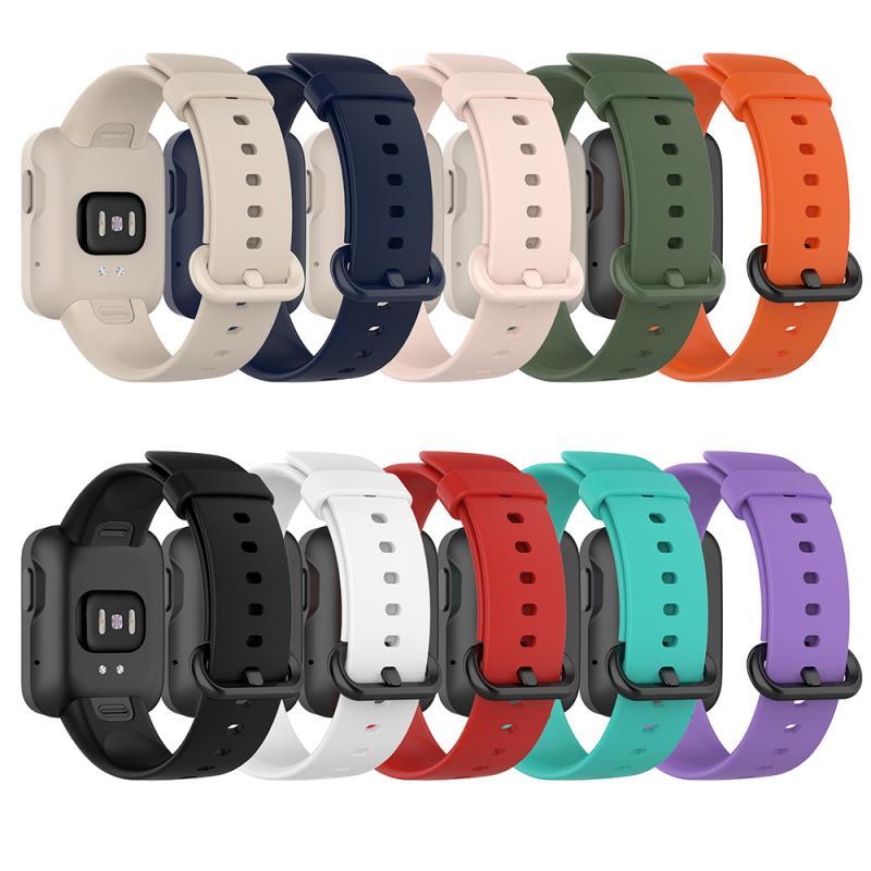 Ремешок сменный силиконовый для XiaoMi Mi Watch Lite, спортивный браслет для смарт-часов XiaoMi RedMi