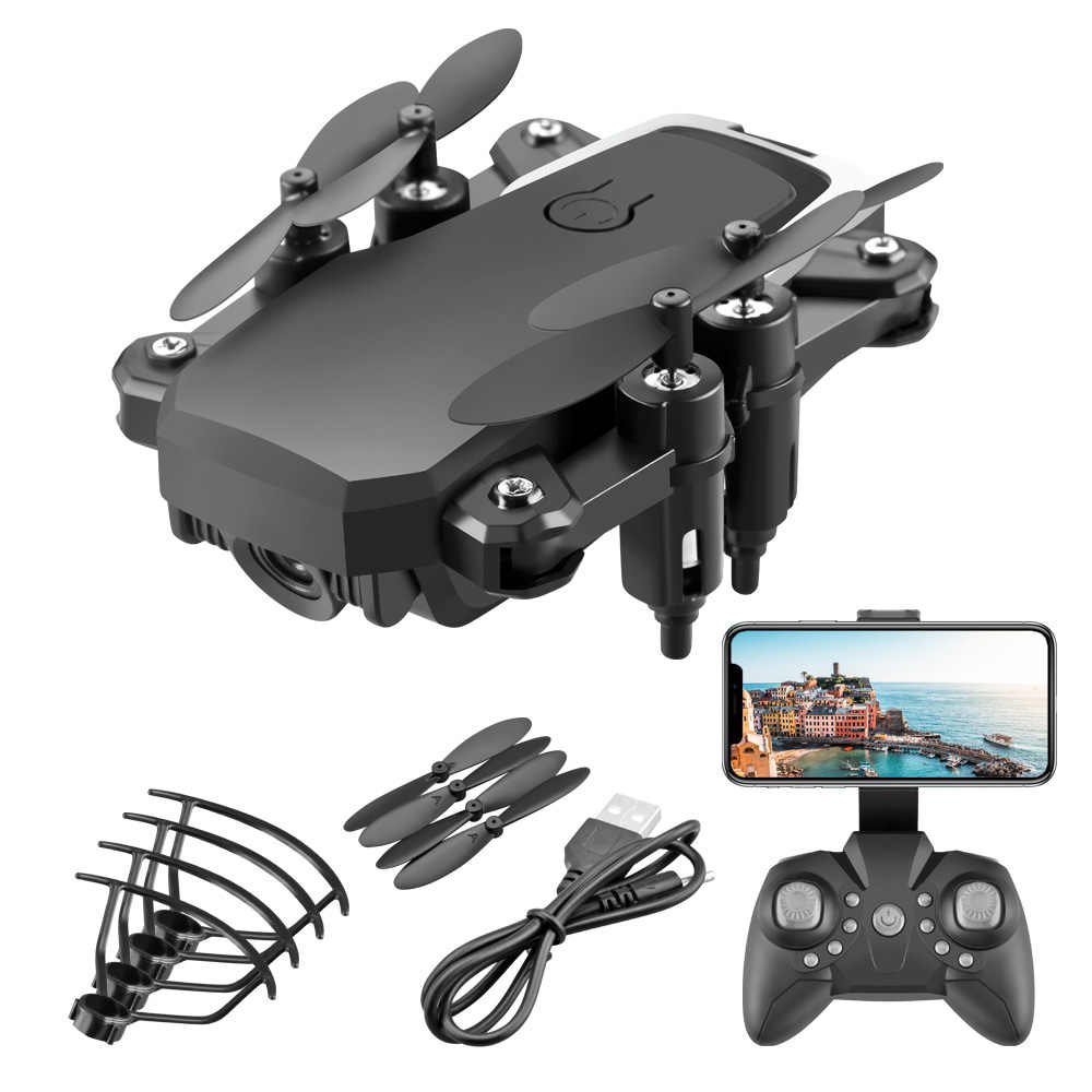 HD 4K 1080P Mini Aerial RC Drone WIFI GPS High Hold Mode Small Quadrotor Easy To Carry  Foldable Helicopter LF606 Outdoor Toys