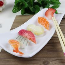 Food-Prop Sushi Simulated Seafood-Slice Display Artificial-Food Realistic for Showcase