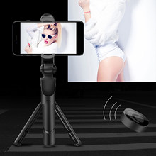 Wireless Bluetooth Remote Control Selfie Stick With Tripod For Mobile Phone Desktop Stand Portable Stretchable Holder