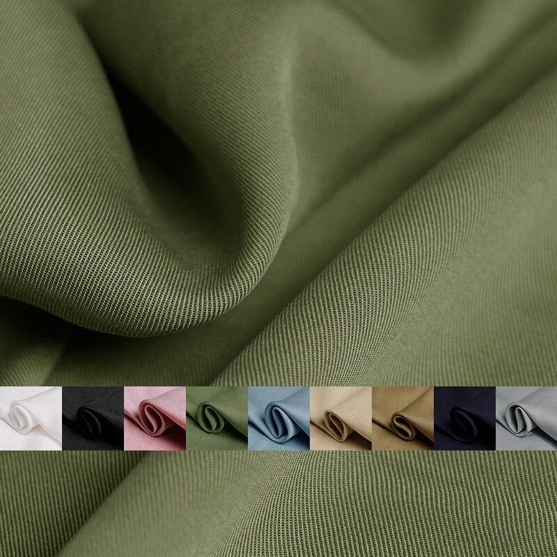 Ткань из английской саржевой ткани Tencel, мягкая ткань с вертикальным ощущением из 100% тенселевой ткани, осеннее женское платье, ткань для шить...