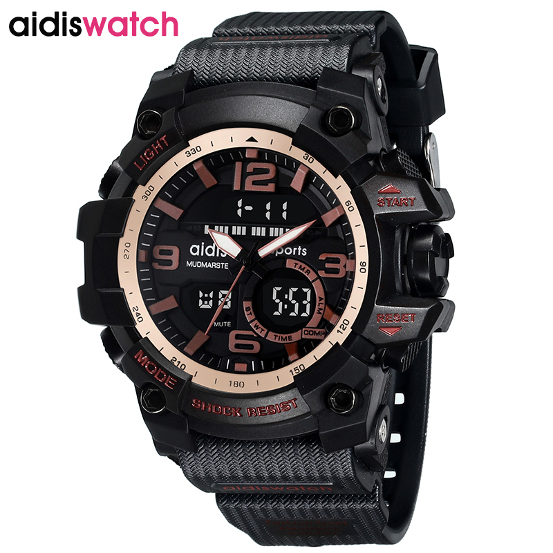 AIDIS Luxury Top Brand Sport Men Women Watches Waterproof Military LED Digital Multifunction Electronic Children Wristwatch