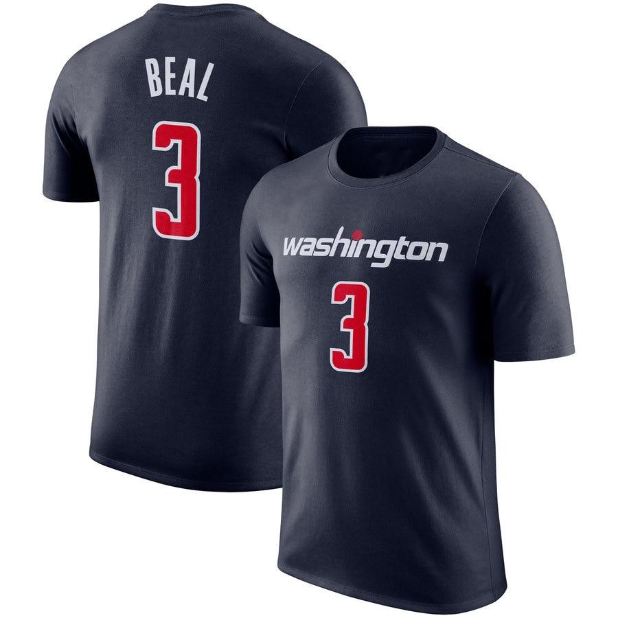 2019 Summer NBA Wizards New Style MEN'S T-shirt John Wall Jersey Basketball Rugby Supply Of Goods