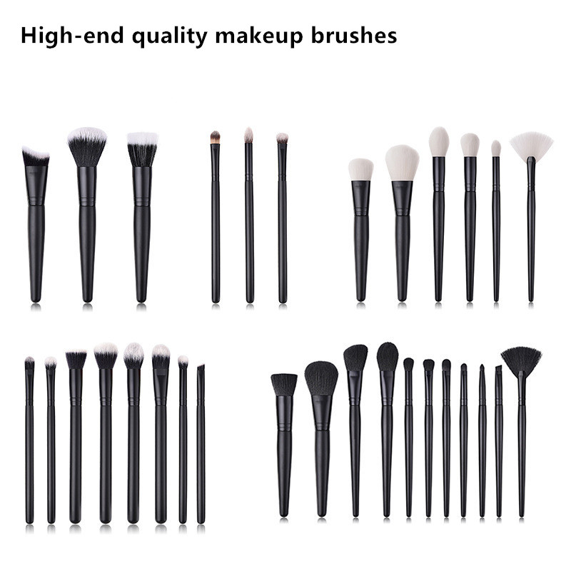 11/6/8/3 PCS Makeup Brushes Sets Powder Blusher Foundation Make Up Brush Blending Eyeshadow Brush Black Beauty Tools