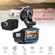 2in1 Full HD Car DVR Camera Radar Laser Speed Detector GPS Camera Video Recorder Dash Cam with G-sensor Night Version Car DVRs