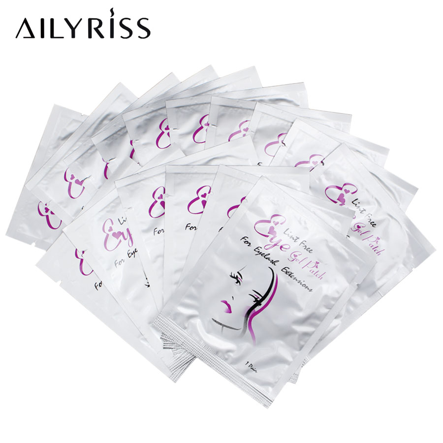 20/50/100pairs Girl Paper Patches Grafted Eye Stickers Eyelash Under Eye Pads Eye Paper Patches Tips Sticker AILYRISS