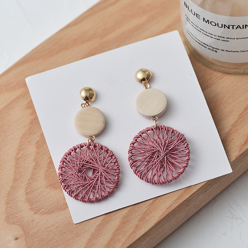 2020 Luxury Fashion Simple Big Round Earrings For Women Fashion Korean Style Hollow Mesh Drop Earrings Jewelry