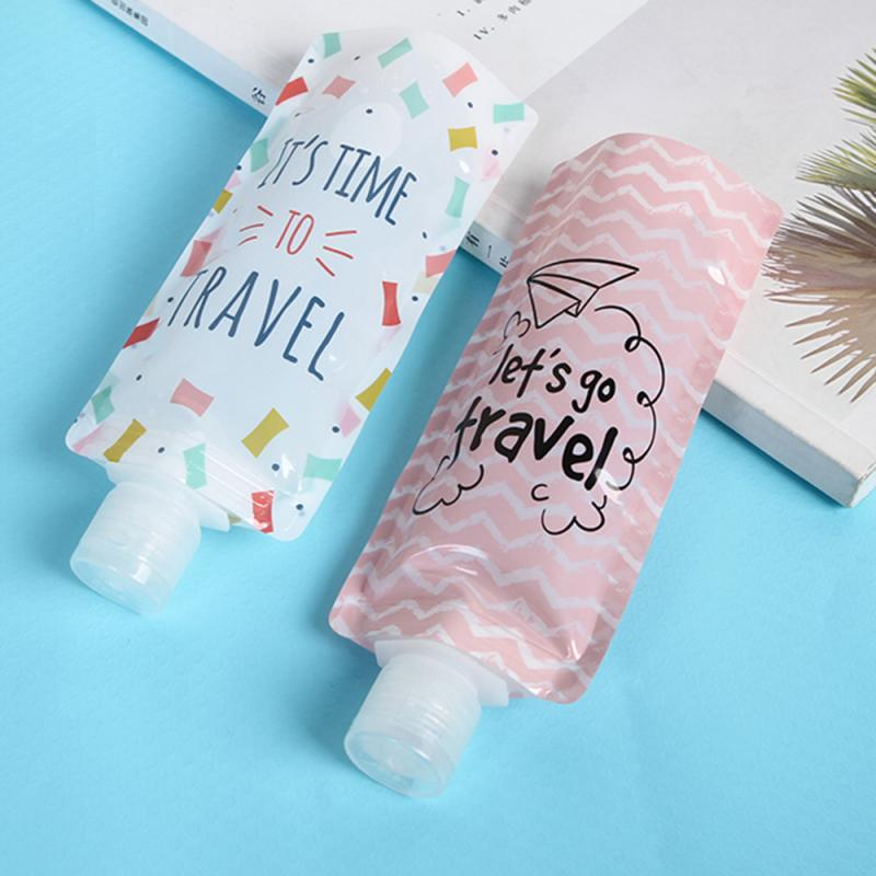 1Pcs 100ml Liquid Dispensing Bag Cute Cartoon Shampoo Moisture Bottle Cream Cosmetic Liquid Storage Bag