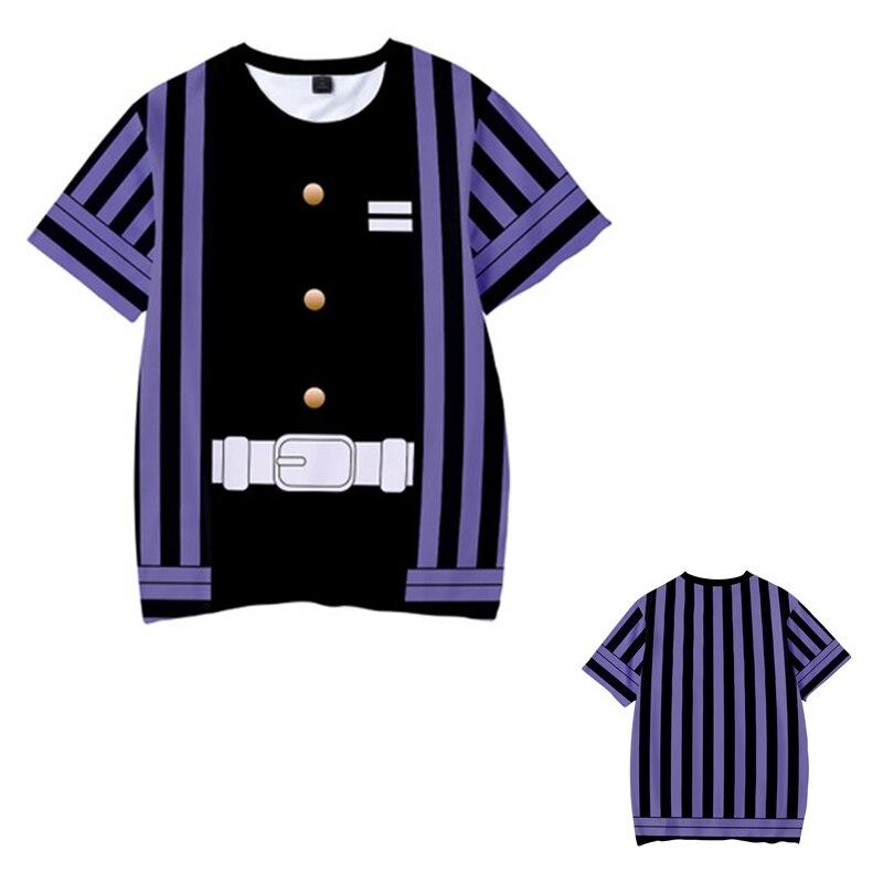 Kids Boys Devils killer T-shirts 3d Print Cosplay Japanese Ghost blade Children Summer Short Sleeve Tshirts Demon Slayer Clothes 7
