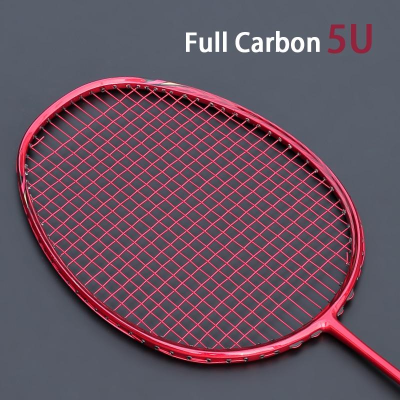 Ultralight 5U Carbon Fiber Badminton Racket With String Bags Raquette Strung Padel Racquet Z Speed Force Professional Rackets