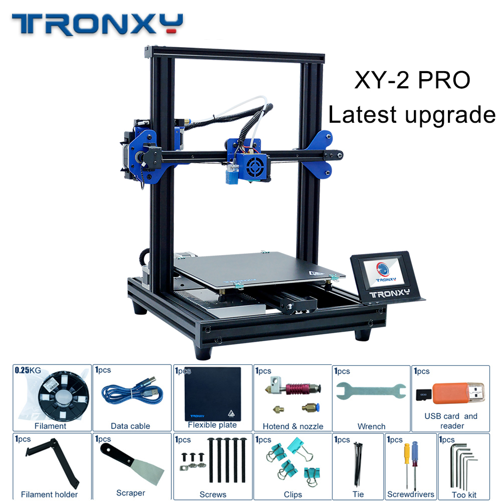 2019 Tronxy dernière mise à niveau XY-2 PRO 3D imprimante bricolage Kits reprendre la panne de courant impression rapide assemblage haute précision nivellement automatique