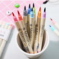 10 Colors/Set Watercolor Brush Pens Soft Colored Calligraphy Lettering Scrapbooking Brush Tip Markers For Drawing Painting Art