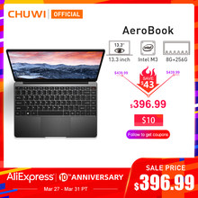 Chuwi Aerobook 13.3 Inch Intel Core M3 6Y30 Windows 10 8 Gb Ram 256 Gb Ssd Laptop Met Verlicht Toetsenbord metalen Deksel Notebook(China)