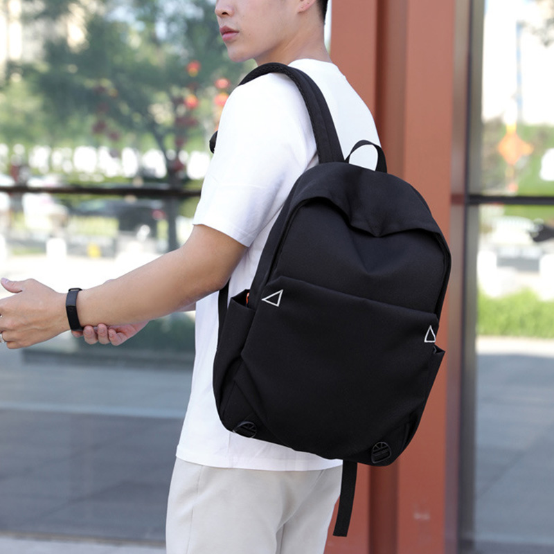 New Casual Solid Color Backpack Simple Oxford Bag College Wind Backpack Outdoor Travel Bag in Backpacks from Luggage Bags