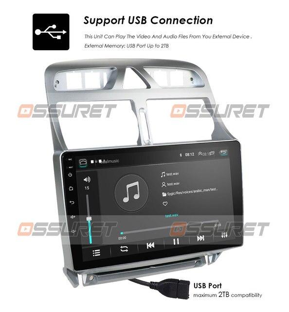 2din Android 10 автомобильный DVD мультимедийный плеер для Peugeot 307 307CC 307SW 2002-2013 автомобильный Радио GPS навигация WiFi Bluetooth плеер