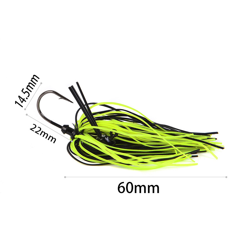 1Pcs 7g 10g 14g Finesse Chatter bait spinnerbait fishing lure Buzzbait wobbler chatterbait for bass pike walleye fishing tackle-1
