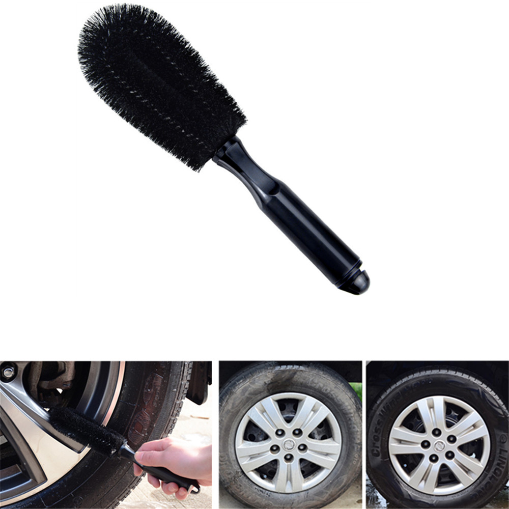 Car Wash Wheel Brush PP Handle Vehicle Cleaning Wheel Rim Tire Washing Brush Tool For Auto Truck Motorcycle Care Styling