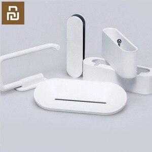 Image 1 - Youpin HL bad 5 in1 sets für Seife Zahn Haken Lagerung Box und Telefon Halter für Bad Dusche Zimmer Werkzeug h31