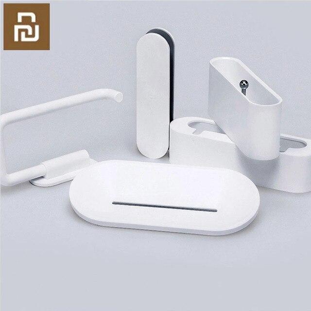 Youpin HL bad 5 in1 sets für Seife Zahn Haken Lagerung Box und Telefon Halter für Bad Dusche Zimmer Werkzeug h31