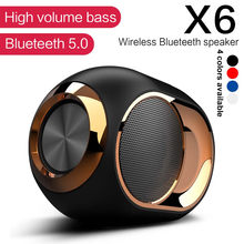 X6 Draadloze Bluetooth Douche Speaker Hifi Stereo Geluid Waterdichte Bass Speaker Muziek Surround Soundbar Fm Tws Sd Aux Luidsprekers(China)