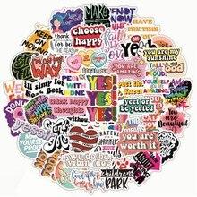 Autocollants de expressions de motivation colorées, étiquette Scrapbooking, Graffiti, inspirant les enfants, pour salle d'étude, ordinateur portable, DIY bricolage, 10/