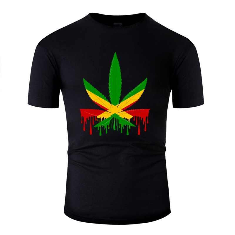 Tasarım kıyafet jamaika bayrağı jamaikalı Retro Vintage T Shirt pamuk o-boyun Tee gömlek erkekler için giyim kısa kollu yüksek kaliteli
