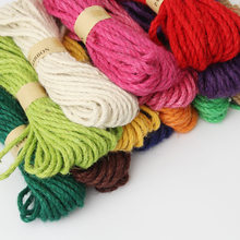 5M/lot Colorful Jute 6mm Cotton Cord Twisted Rope High Tenacity DIY Textile Craft Woven String Home Decoration craft supplies(China)