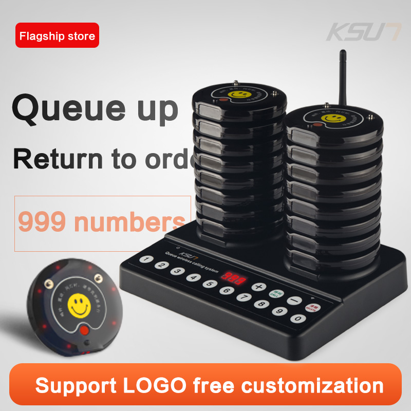 KSUN Q30 Restaurant Pager 20 Channels Wireless Paging Queue Waiter Calling System  System For Restaurant Coffee Shop Queuing Sy