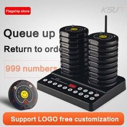 KSUN Q30 restaurante buscapersonas 20 canales paginación inalámbrica sistema de llamada de camarero de cola para restaurante cafetería Queuing Sy