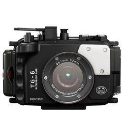 60M Underwater Waterproof Camera case for Olympus TG6 tg 6 Camera housing Diving Protect Case With Dual Fiber-Optic port