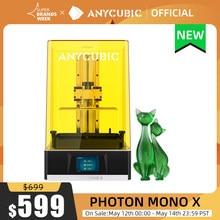 ANYCUBIC Photon Mono X drukarka 3D 8.9 cala 4K monochromatyczne LCD drukarki żywiczne UV drukowanie 3D wysoka prędkość kontrola aplikacji SLA drukarka 3D