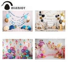 Allenjoy cake smash 1 ° compleanno fotografia sfondo gelato palloncino neonato rosa foto sfondo Baby photobooth photocall
