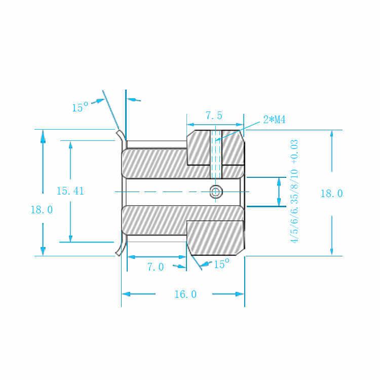 GT2 Timing Pulley 25 ฟันเจาะ 4mm 5mm 6mm 6.35mm 8mmสำหรับความกว้าง 2GT Synchronousเข็มขัดขนาดเล็กbacklash 25 ฟัน