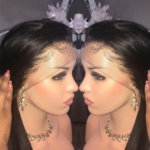 Image 2 - ספיר 13*4 תחרה פרונטאלית שיער טבעי פאות ברזילאי ישר תחרה פרונטאלית פאה מראש קטף תינוק שיער קצר שיער טבעי תחרה פאות