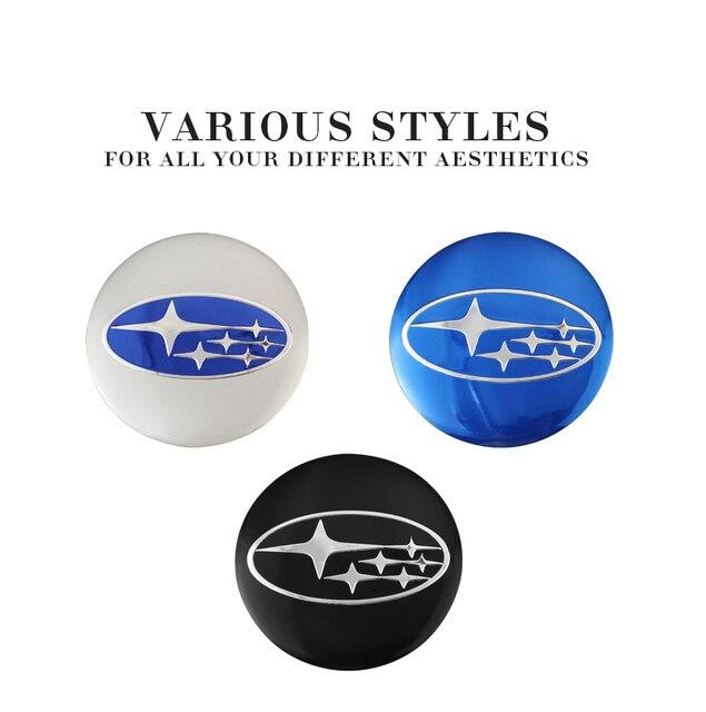 4 pièces 56mm voiture roue couverture centrale autocollants capuchon de moyeu emblème Badge pour Subaru Impreza Forester Tribeca XV héritage Mpreza BRZ ascension