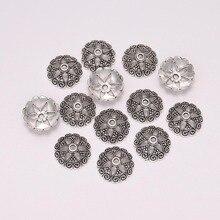 20Pcs/Lot 14.5mm Antique Bead Caps End Receptacle Flower Torus For Jewelry Making Findings Diy Bracelet  Accessories