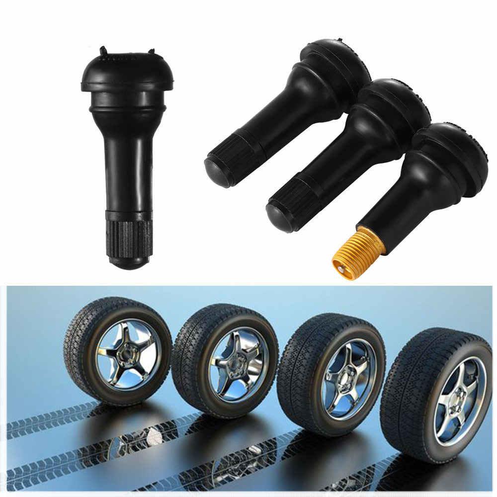 4 piezas TR413 coche negro rueda válvula vástago vehículo latón Snap-In neumático tapa automóviles ruedas Accesorios