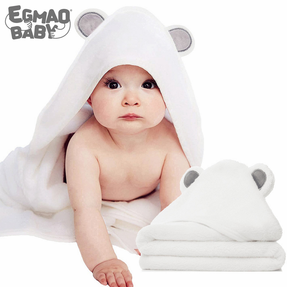 Organic Bamboo Hooded Baby Towel – Ultra Soft And Super Absorbent Baby Bath Towels Washcloth For Newborns, Infants And Toddlers