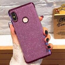 Luxury Plating Glitter Bling XIOMI Case For XIAOMI Redmi Note 5 Silicone Cover S2 Plus  MI8 6 Pro Coque