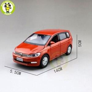 Image 2 - 1/32 Jackiekim TOURAN MPV VAN Diecast Model CAR Toys kids Sound Light Pull Back Gifts