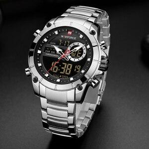 Image 3 - Top Luxury ยี่ห้อ NAVIFORCE 2019 ผู้ชายใหม่กีฬานาฬิกาข้อมือควอตซ์นาฬิกาผู้ชายกันน้ำแบบ Dual นาฬิกาวันที่ Relogio Masculino