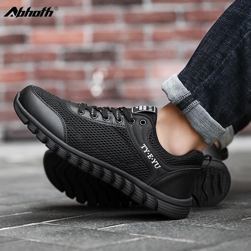 Легкие мужские кроссовки Abhoth, дышащие, повседневная прочная обувь, на шнуровке, размеры до 44